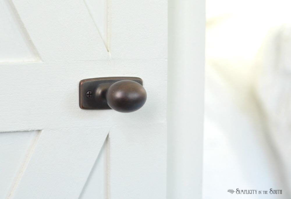 door hardware the cottage shed reveal