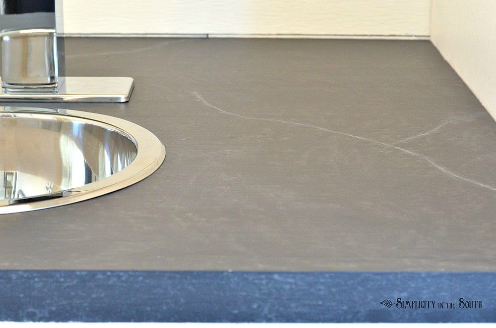 faux soapstone countertop tutorial