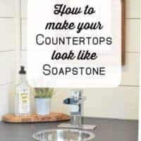 DIY Soapstone Countertops Using Paint