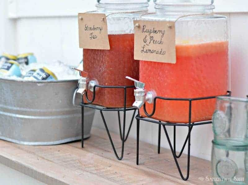 Outdoor party beverage station idea