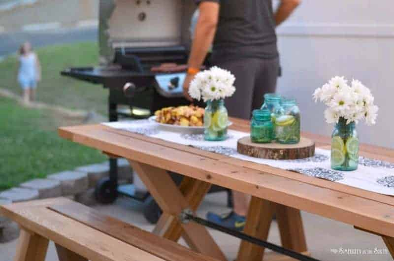 Summer Refresh and Relax party with cookout menu of kabobs and fruit