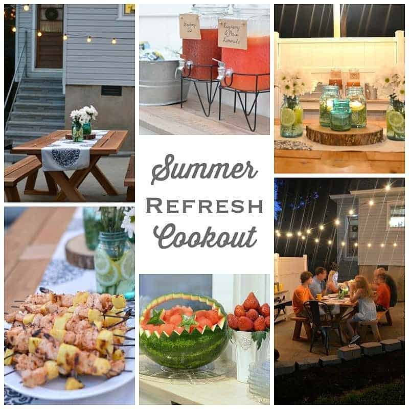 Summer refresh cookout menu and simple summer decor ideas