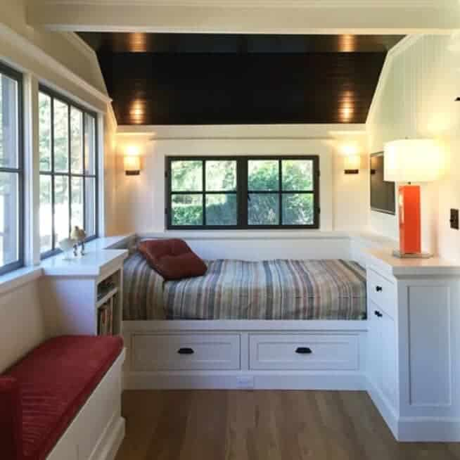 Built-in bed with cabinetry by Young & Sons Cabinetry