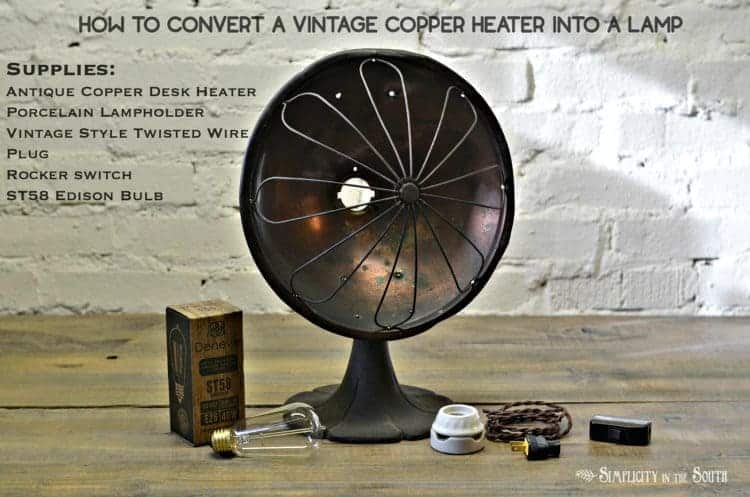 how-to-convert-a-vintage-copper-heater-into-a-lamp