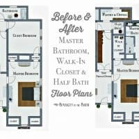 So Long, Spare Bedroom...Hello, En Suite Master Bathroom, Walk-in Closet, and Half Bathroom!