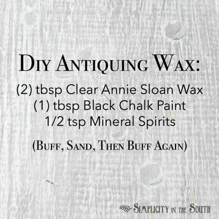 Diy antiquing wax recipe. Easy to make for distressing furniture!
