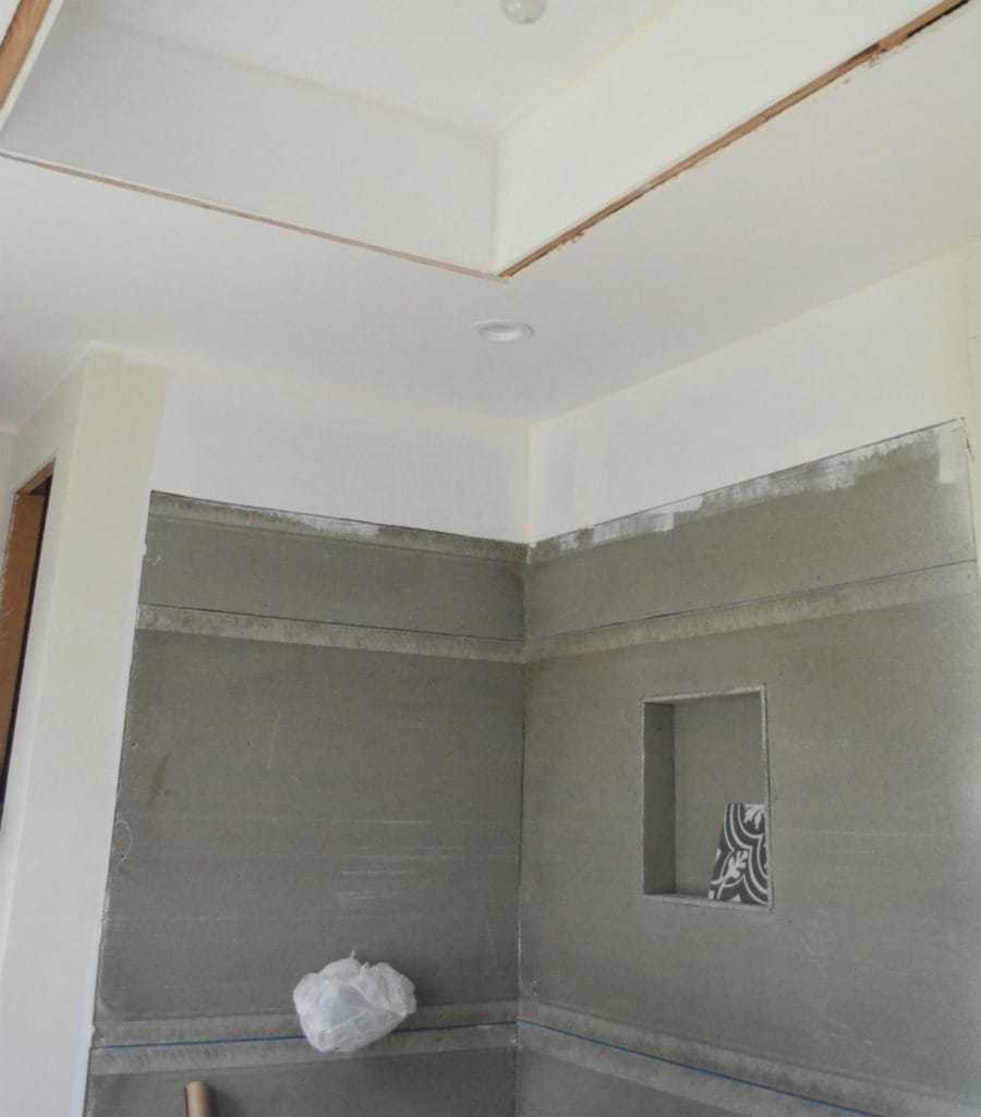 Master bathroom remodel update