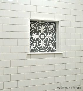 Merola Twenties tile from Home Depot for the master bathroom shower