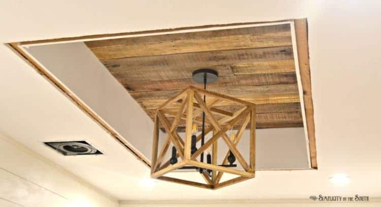 DIY Fixer Upper Inspired Geometric Wood Chandelier
