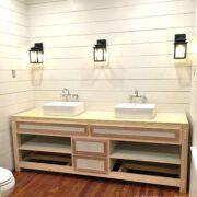 Master Bathroom Progress: Lighting, Faucets, Vanity, & Glass Shower Enclosure