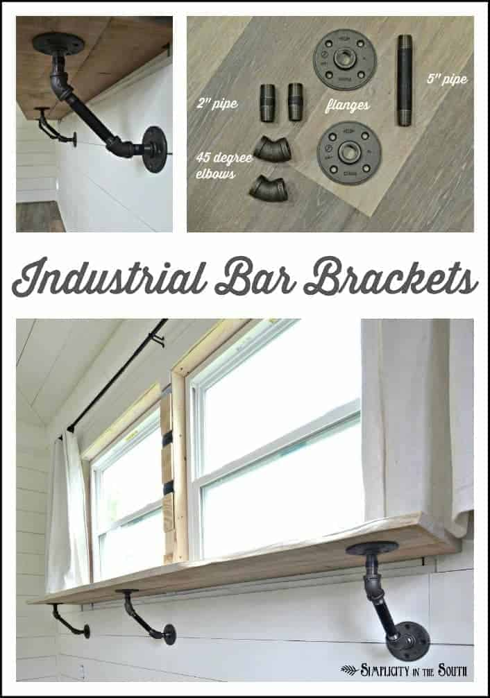 How to Make Industrial Bar or Counter Brackets From Steel Pipe