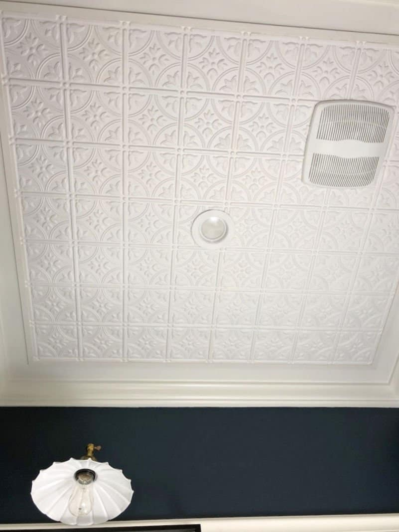 Faux tin ceiling tutorial
