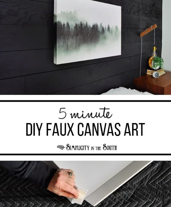 5 minute DIY large faux canvas photo artwork.