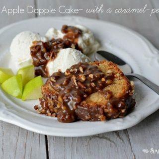 Amazing Apple Dapple Cake with a Caramel-Pecan Glaze