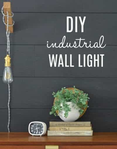DIY industrial minimalist wall light