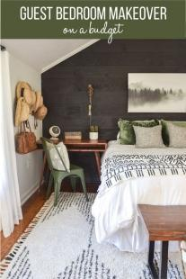 guest bedroom makeover on a budget