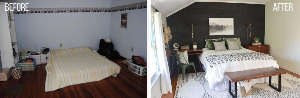 before and after pictures guest room makeover