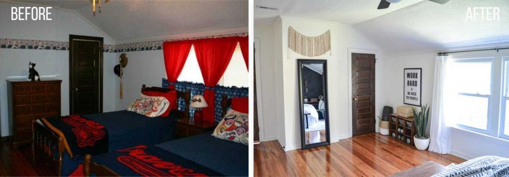 before and after pictures guest room makeover on a budget