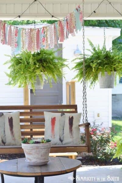 diy aged galvanized bucket hanging planters