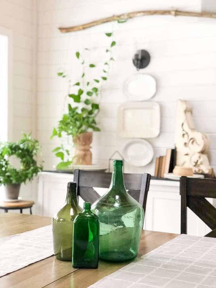 green glass bottles by www.graceinmyspace.com