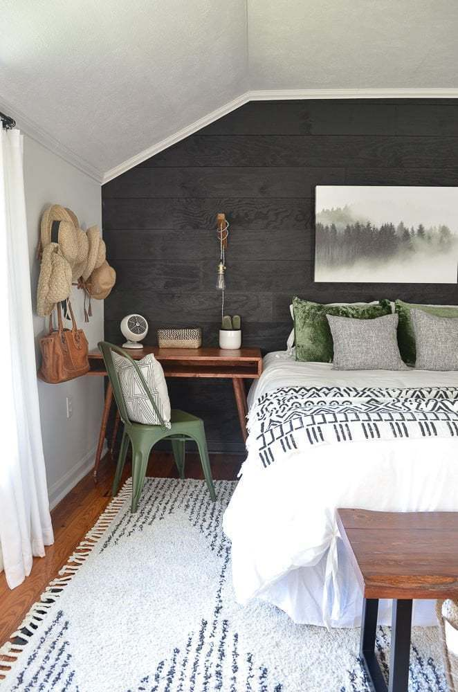guest bedroom makeover on a small budget