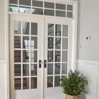 How to Install French Doors with a Transom Window [Part 1: Hallway Makeover]