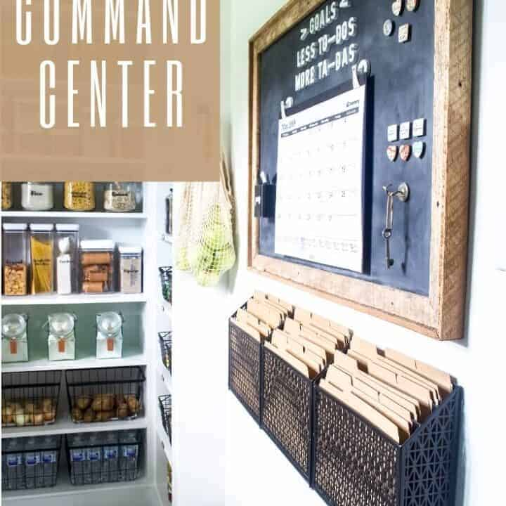 command center idea using a diy magnetic chalkboard