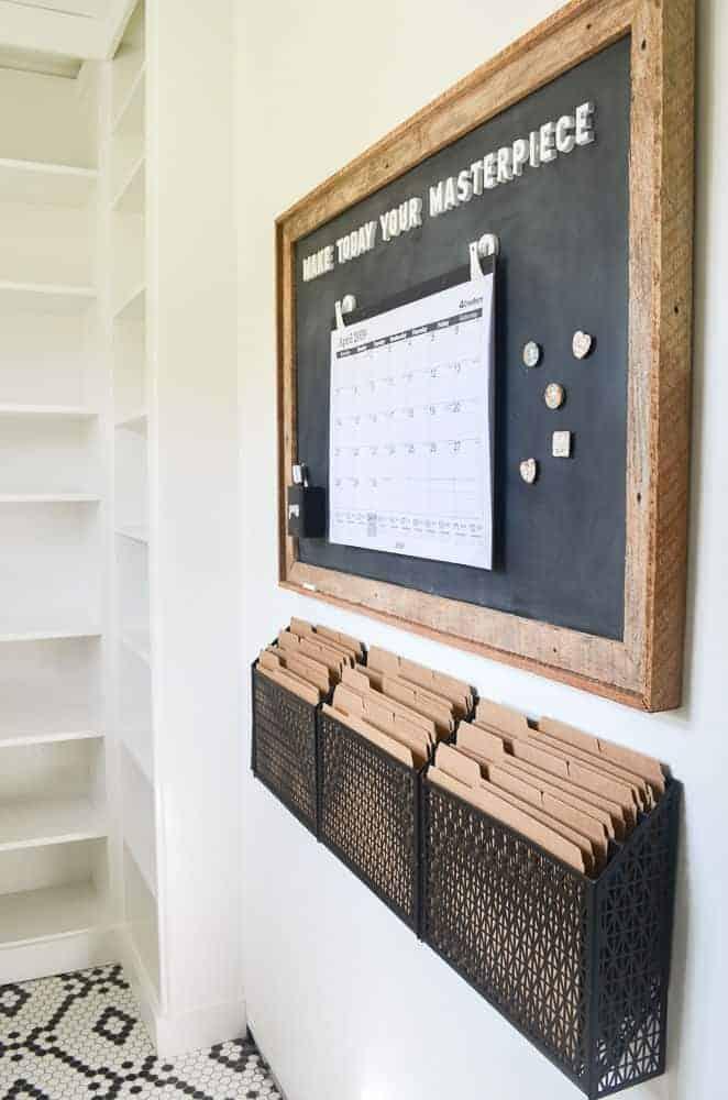 magnetic chalkboard command station memo board