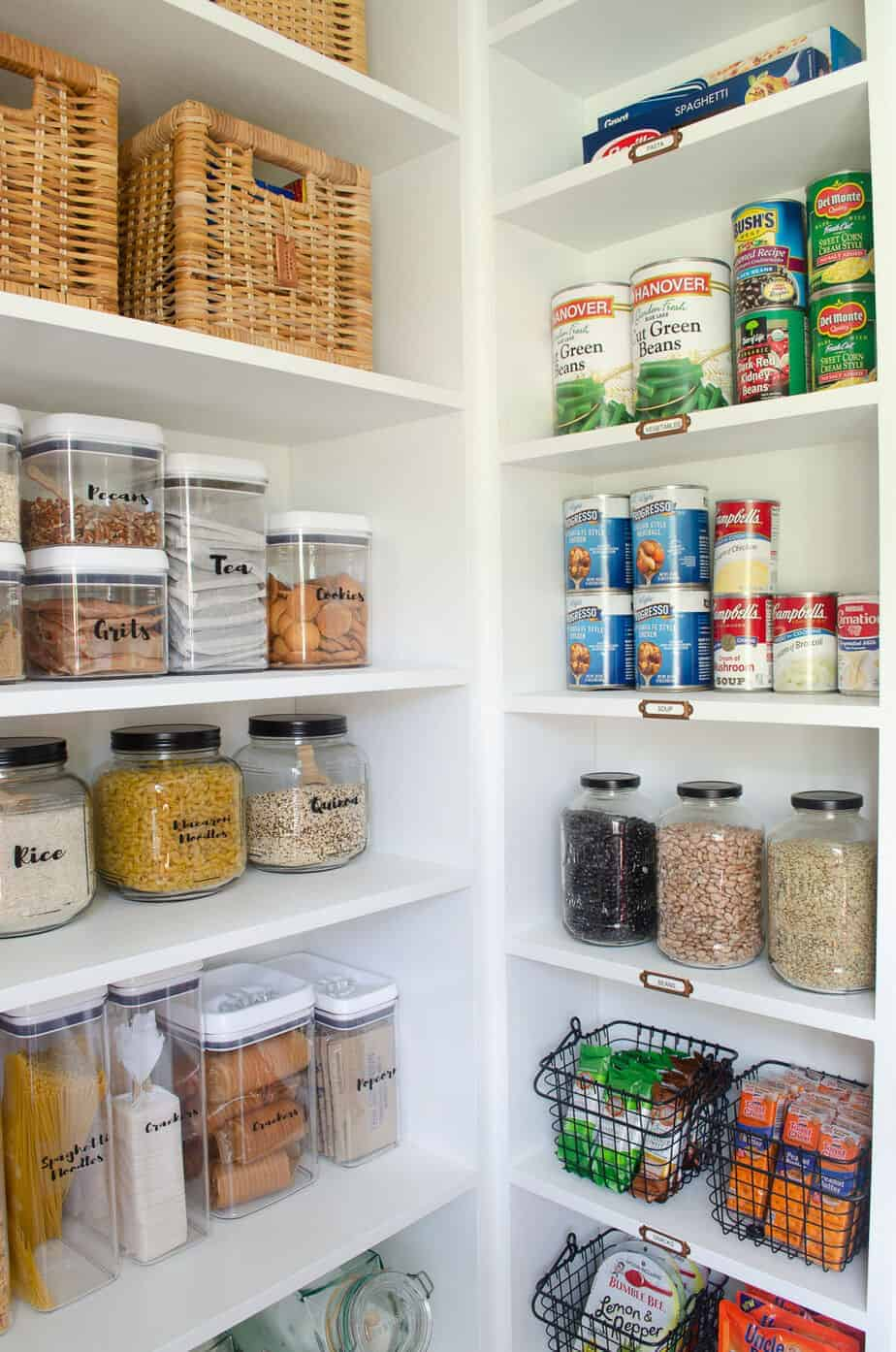 organization ideas for kitchen pantry shelves
