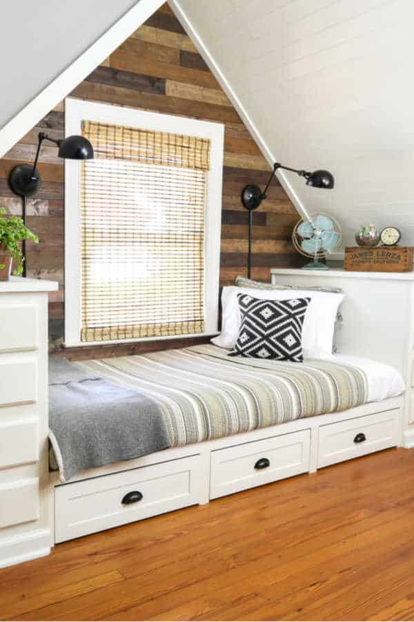 How To Make A Built In Bed Using Kitchen Cabinets A Rustic