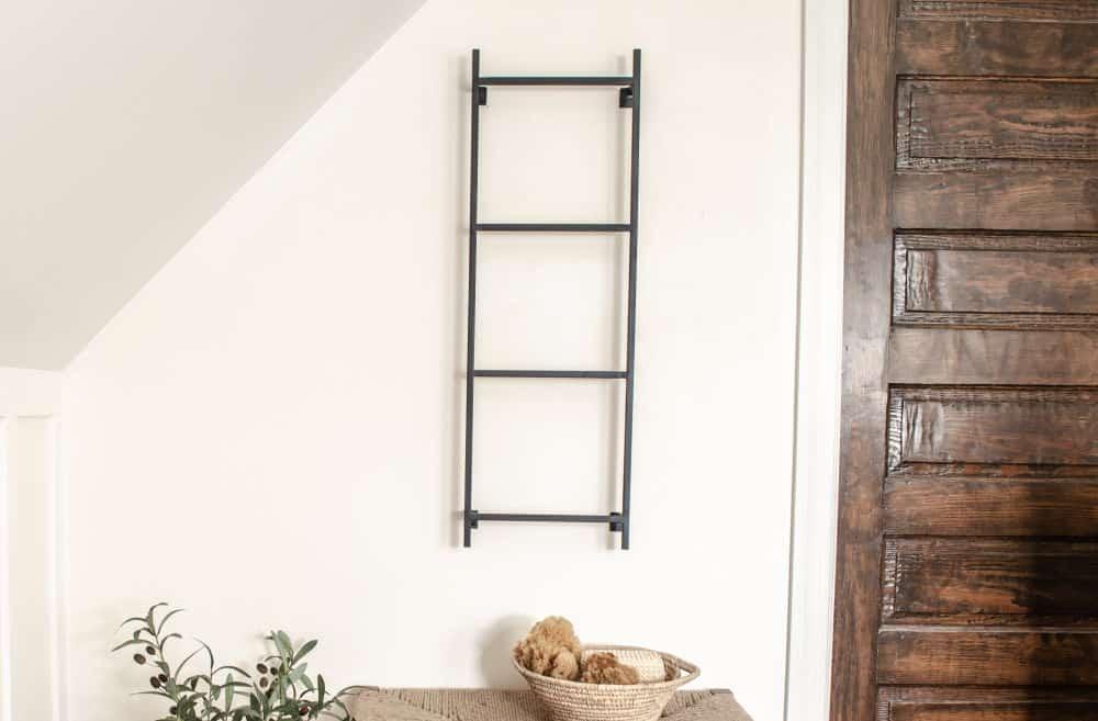 wall mounted metal display blanket ladder