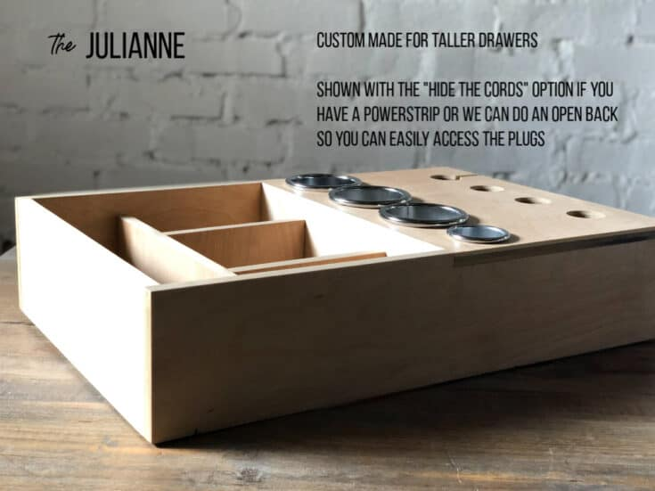 The Julianne hair tool bathroom drawer organizer