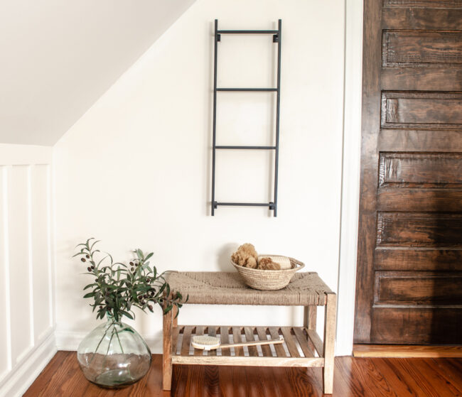 Wall Blanket Display Ladder _ Hanging Ladder