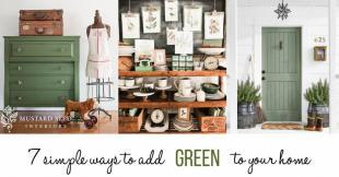 decorating ideas to add green to your home