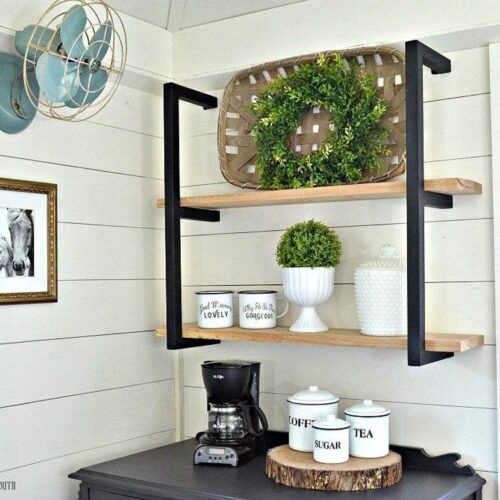 modern farmhouse metal shelf brackets