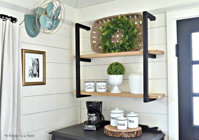 modern farmhouse metal shelf brackets