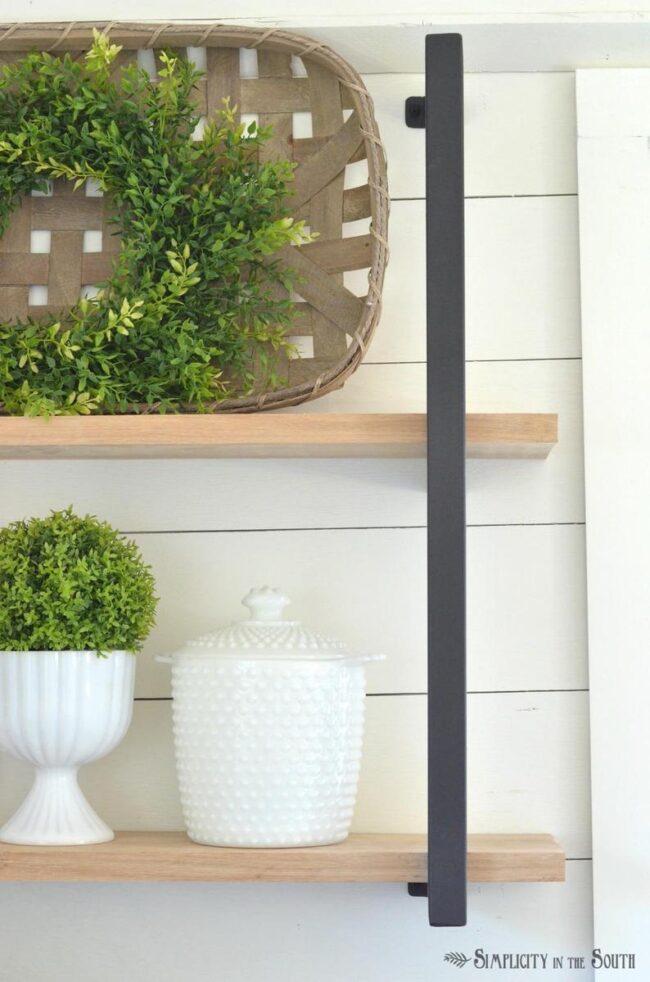 shelf brackets for modern farmhouse style