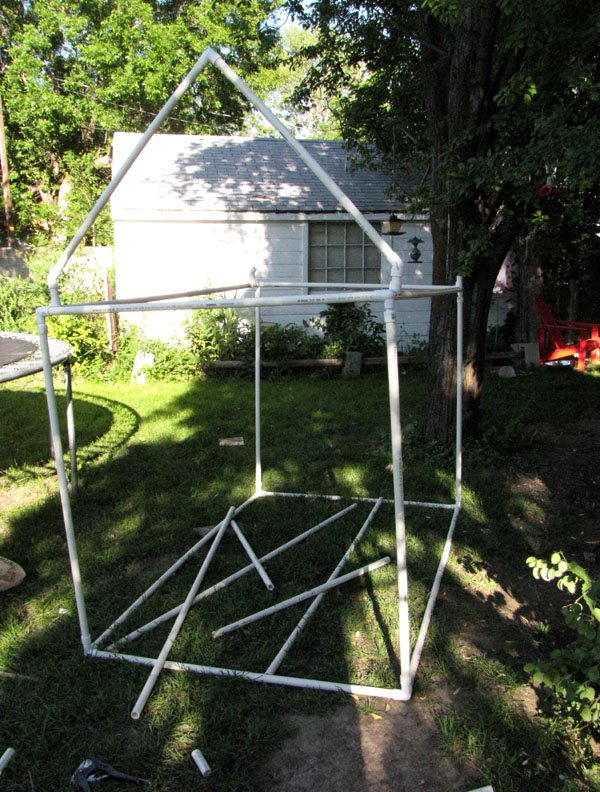 Build diy free pvc playhouse plans wooden mission