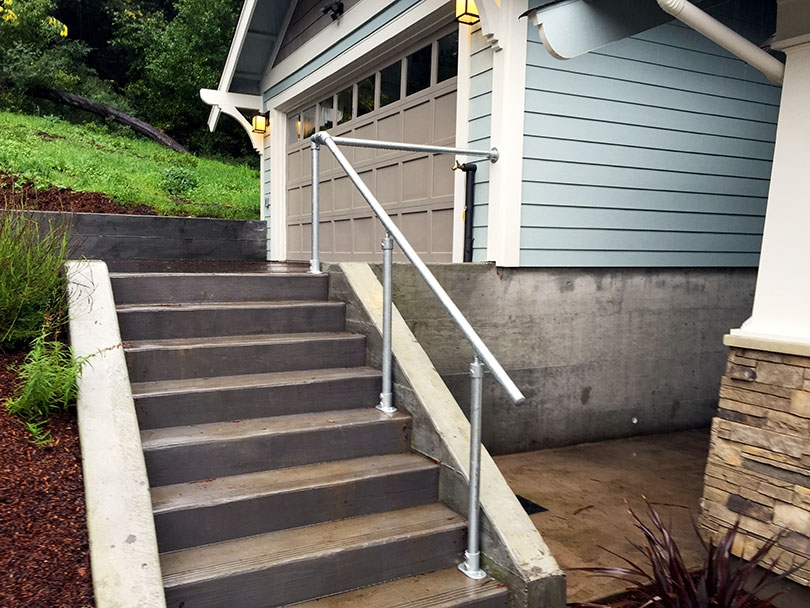 13 Outdoor Stair Railing Ideas That You Can Build Yourself   Outdoor Banisters And Railings   Deck   Trex   Wood   Stair Stringers   Concrete
