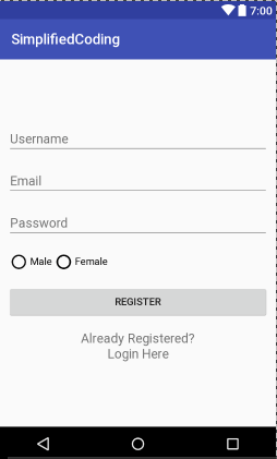 android registration