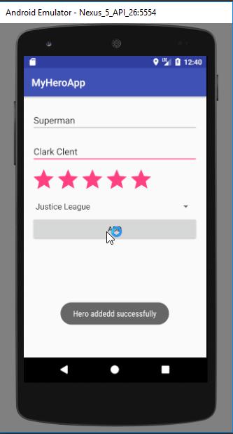 android mysql tutorial - create operation
