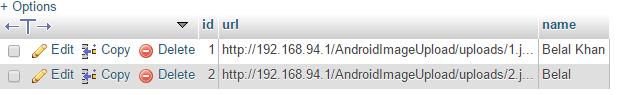 android upload image database