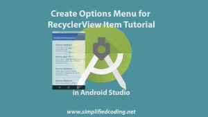creating options menu for recyclerview item