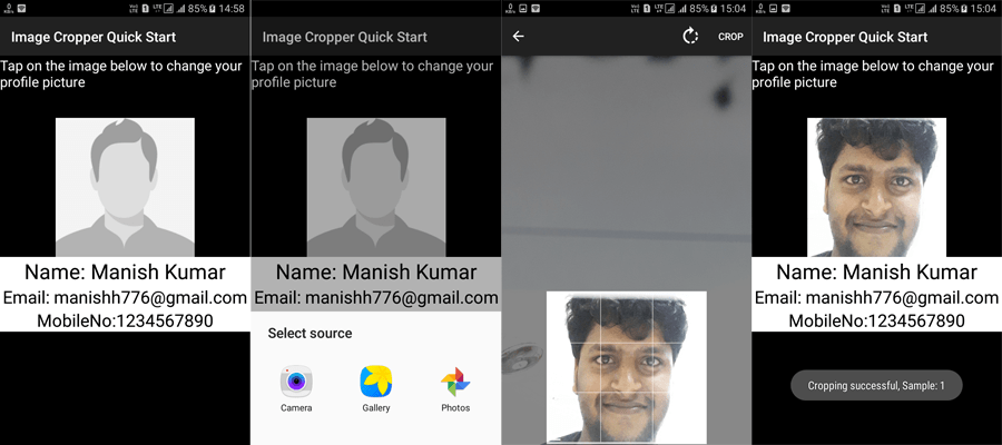crop image android tutorial