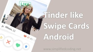 tinder like swipe cards android