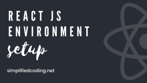 react js environment setup