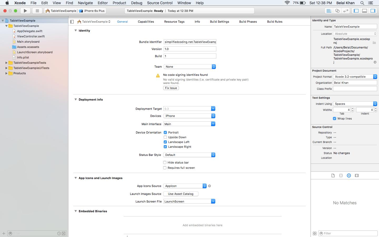 ios table view tutorial