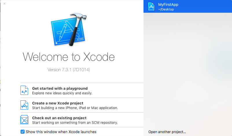 xcode home