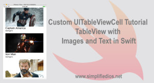 Custom UITableViewCell Tutorial – TableView with Images and Text in Swift