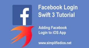 facebook login swift 3 tutorial